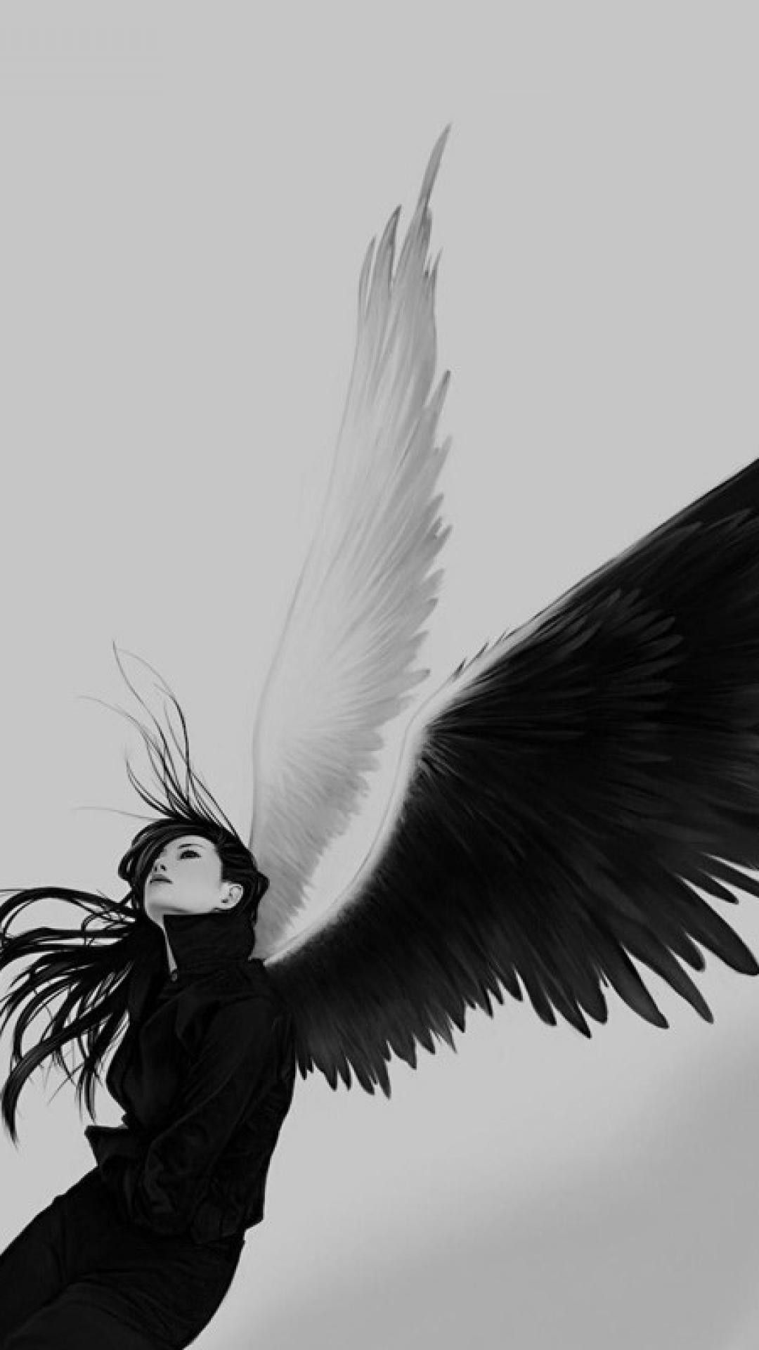 Black angel wings dark wings white angel fallen angels dark angels