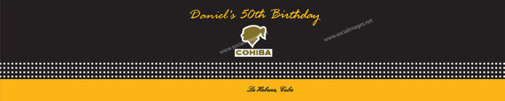 Cohiba Inspired Cigar Box Water Bottle Labels by SocialImagesInc, $20.00