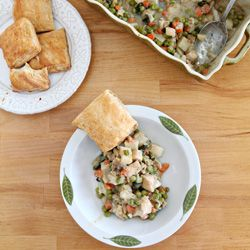 Chicken Pot Pie, chock full of vegetables, and a little lighter than expected, along with a failproof no-more-soggy-leftovers crust solution.