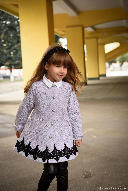 одежда для девочек ручной работы пальто очарование с кружевом