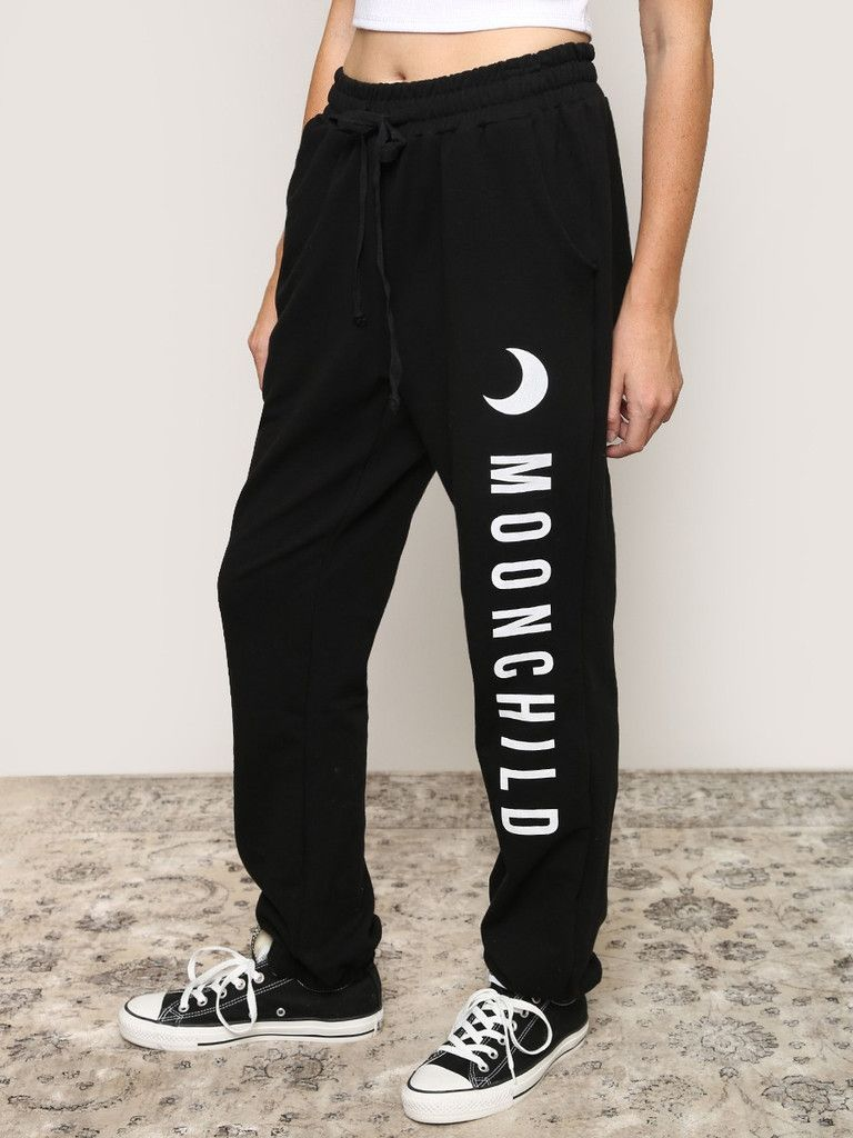 4834cdf5f684 Every moon child deserves a pair of comfortable pants! Mega soft black  sweatpants