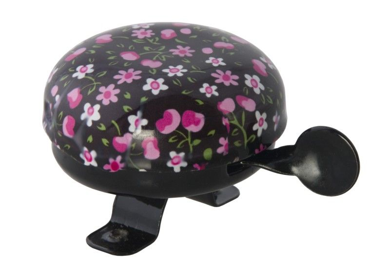 Bicycle Bell Pink Blossom Black - order via info@bonniebikes.com