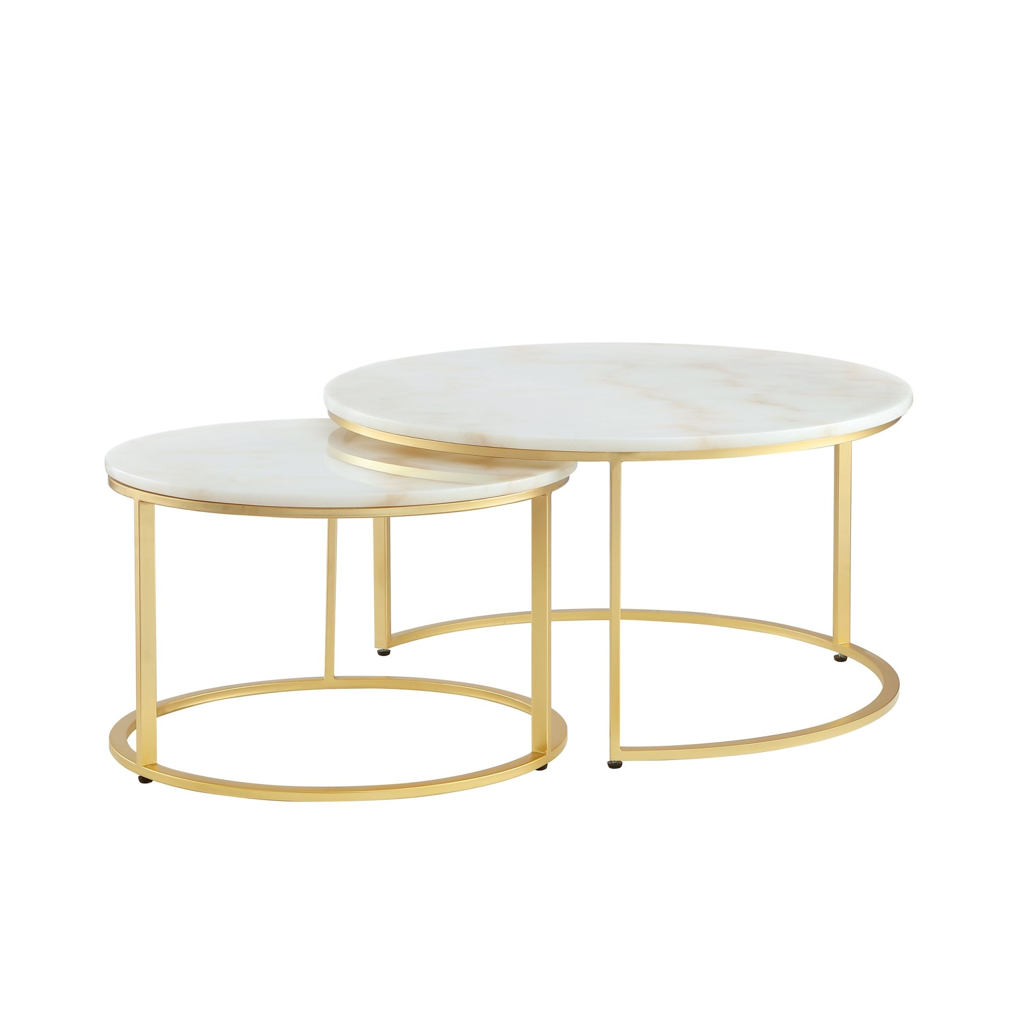 Irene Round Top Nesting Coffee Table In 2021 Marble Coffee Table Coffee Table Coffee Table Metal Frame [ 2000 x 2000 Pixel ]