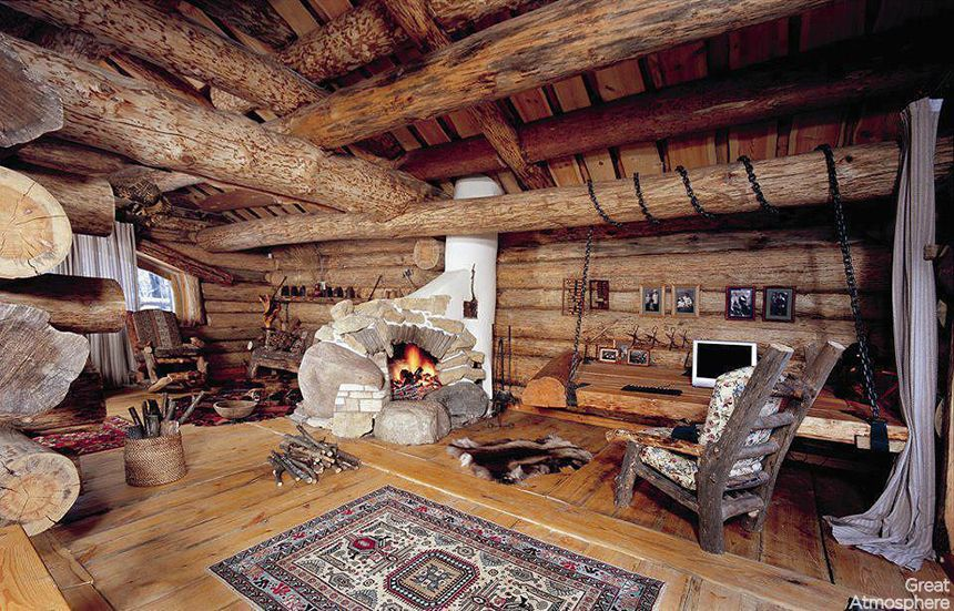 great atmosphere my cabin living room - Cabin Living Room Decor