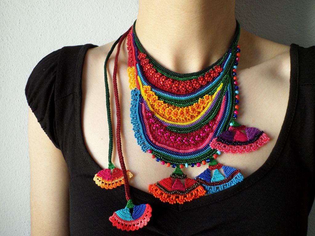 tienda de liquidación 83193 c5c81 collares tejidos a crochet paso a paso - Buscar con Google ...
