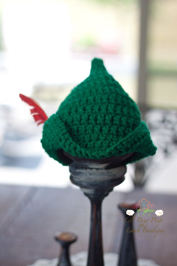 Crochet Peter Pan or Robin Hood Hat by LionandLambPhotos on Etsy ... 176c1501c06