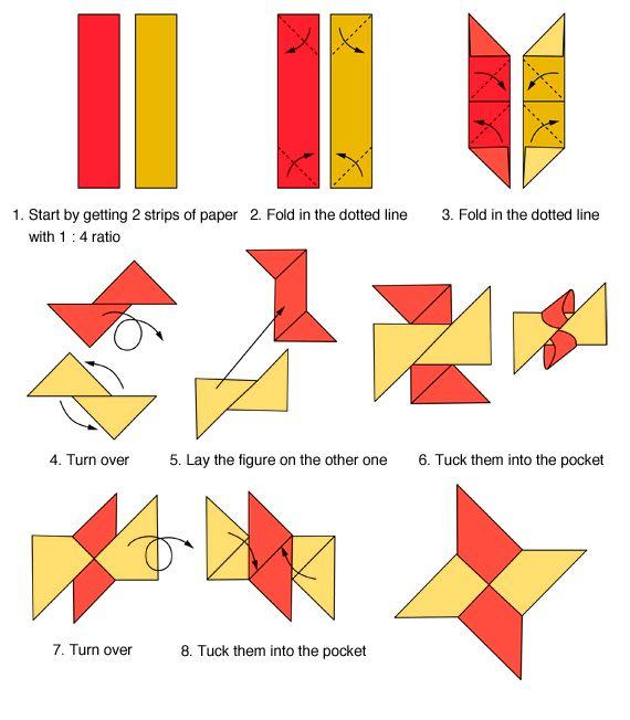 how to make a paper ninja dart