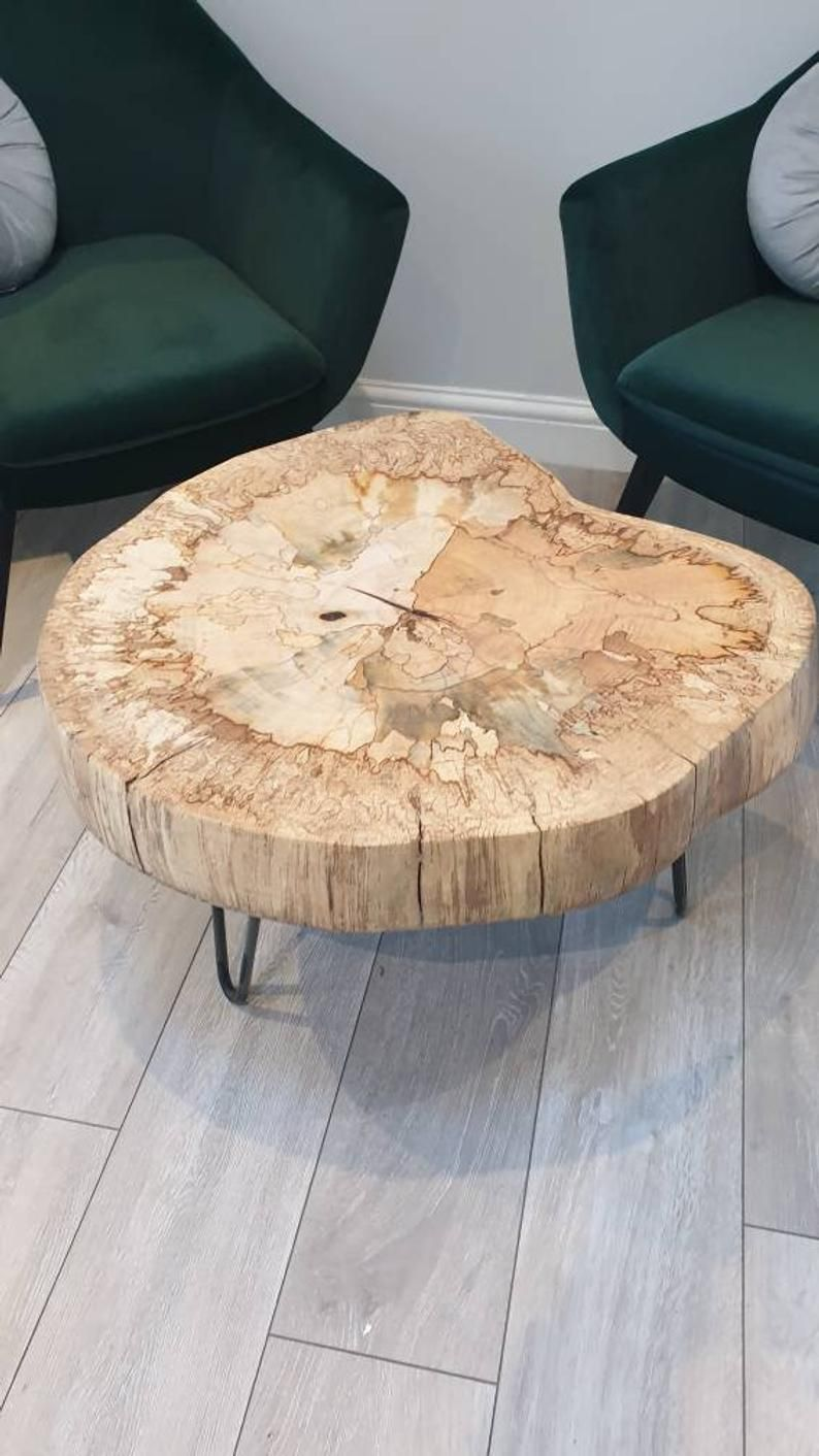 Live Edge Coffee Table Rustic End Table Spalted Beech Round Etsy Rustic End Tables Live Edge Coffee Table Industrial Style Coffee Table [ 1412 x 794 Pixel ]