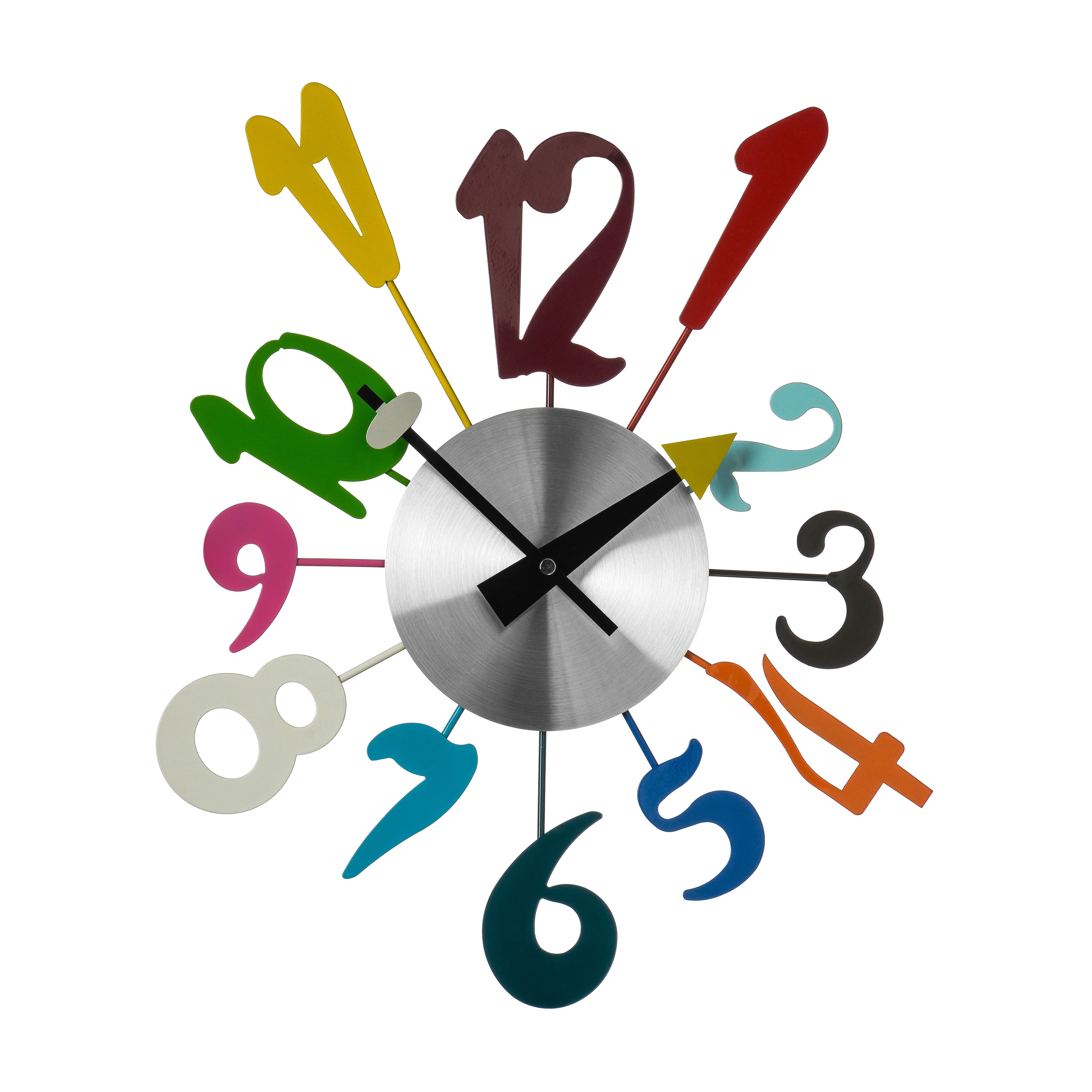 Funky Numbers Wall Clock Wall clock, Contemporary wall clock