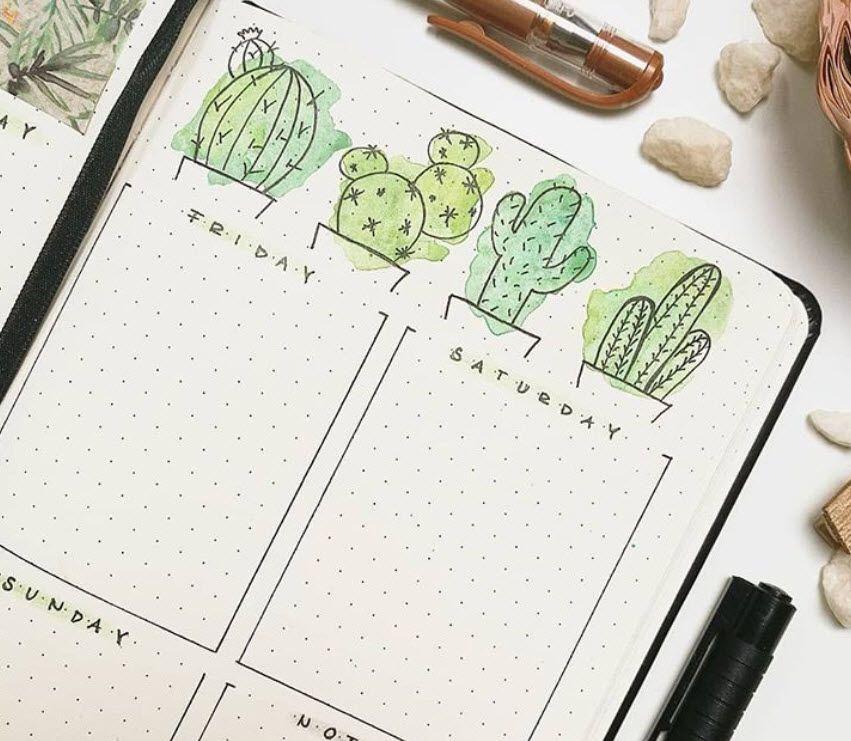 30 Gorgeous Watercolor Bullet Journal Layout Ideas Bullet