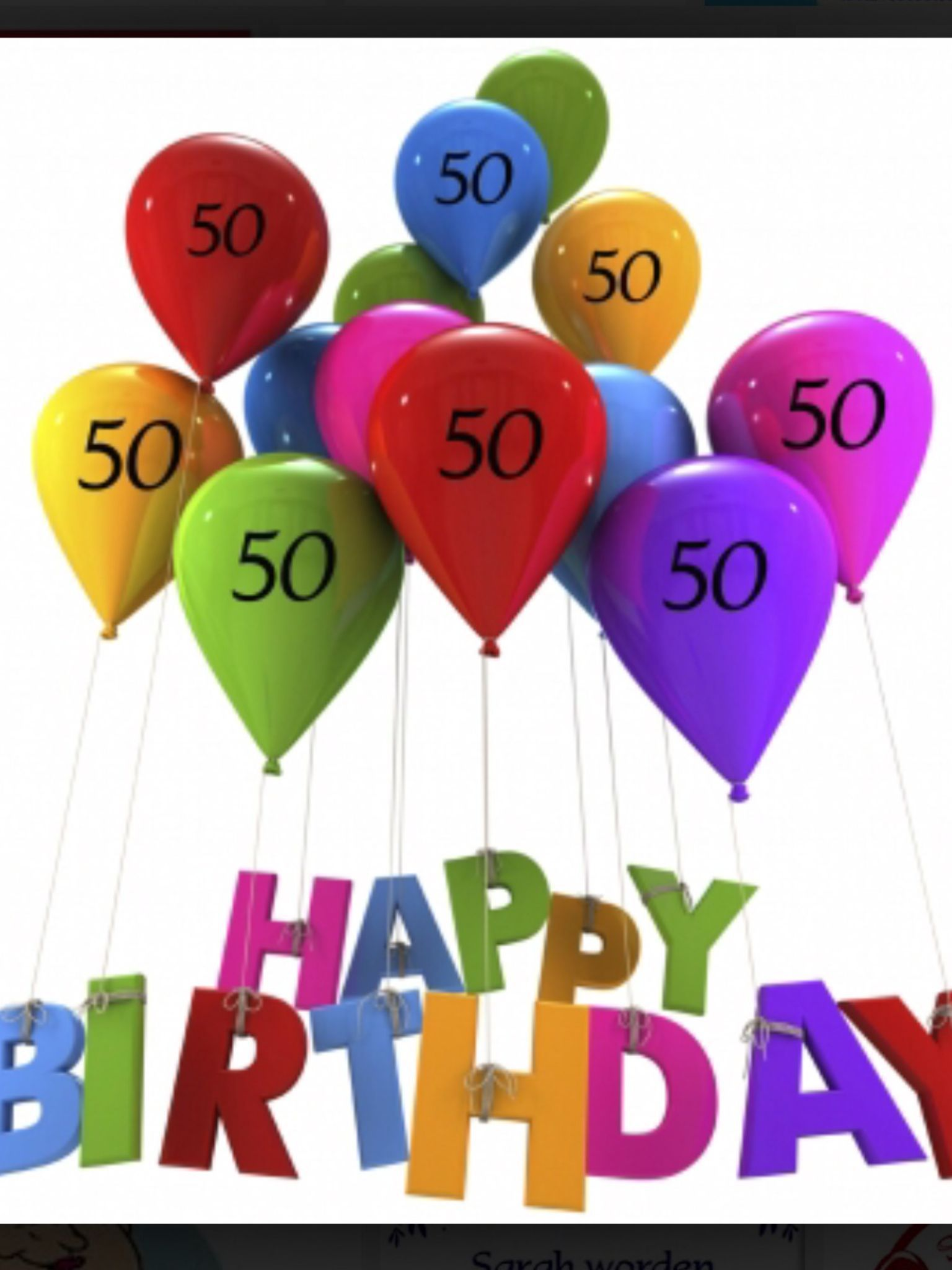 Verjaardagskaart Vrouw 50