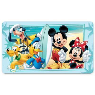 Disney Mickey Summer Fun Bath Mat In 2020 Mickey Mouse Cartoon Fun Bath Mats Disney Mickey
