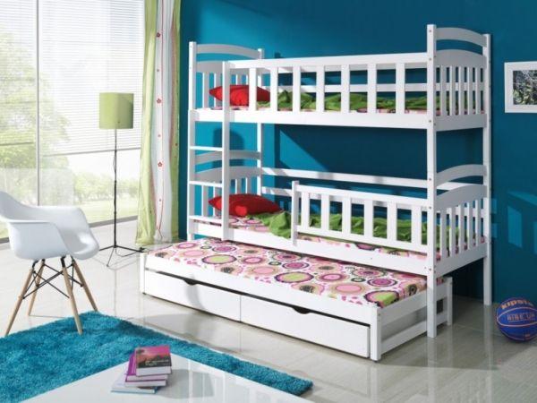 kacper 3 das wei e etagenbett f r bis zu 3 etagenbett pinterest etagenbett. Black Bedroom Furniture Sets. Home Design Ideas