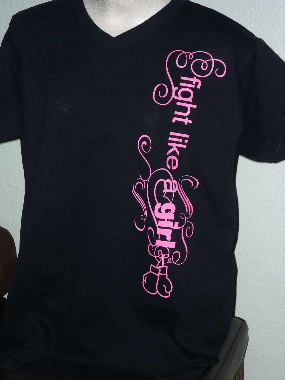shirt Fight Like a Girl Breast Cancer Awareness. $15.00, via Etsy.