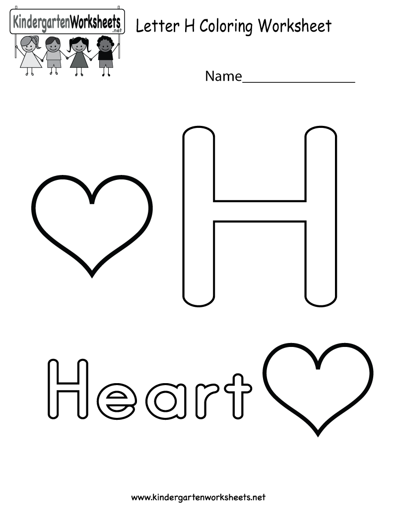 this is a cute letter h coloring worksheet this would be a fun learning activity for kids you. Black Bedroom Furniture Sets. Home Design Ideas