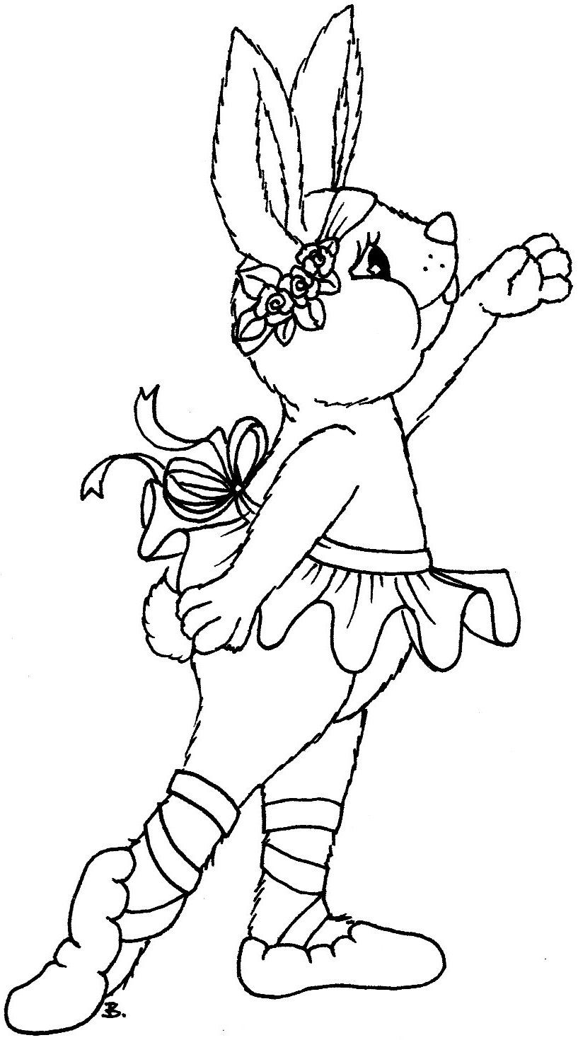 ballerina bunny with images coloring pages