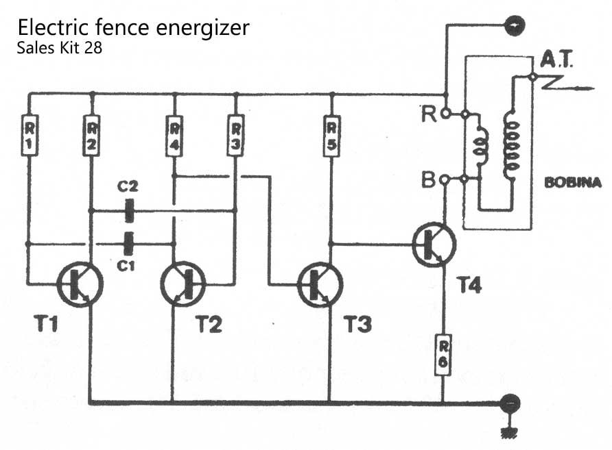 a homemade fence charger  energizer circuit