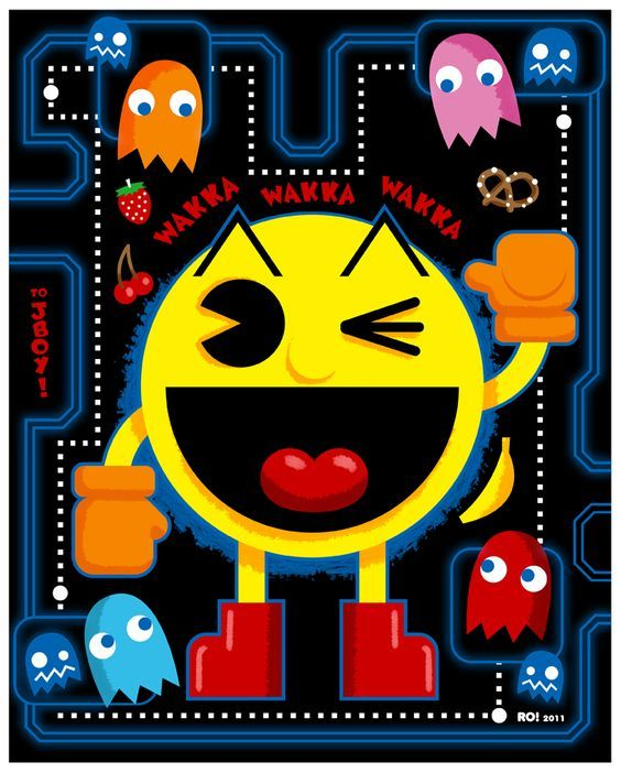 Pac-Man Donkey Kong Space Invaders Galaga Asteroids Ms. Pac-Man Centipede Dig Dug Mario Bros. Q*bert Defender Pole Position Pong Donkey Kong Jr. Galaxian Missile Command Joust Punch-Out!! Gauntlet Street Fighter 1942 Double Dragon BurgerTime Dragon's Lair Tron Tempest Rampage Mortal Kombat Bubble Bobble Paperboy Star Wars Spy Hunter 1992 Moon Patrol Breakout Track & Field Commando Berzerk The Simpsons Arcade Game Battlezone Elevator Action Super Pac-Man 1943 Popeye Millipede Arkanoid