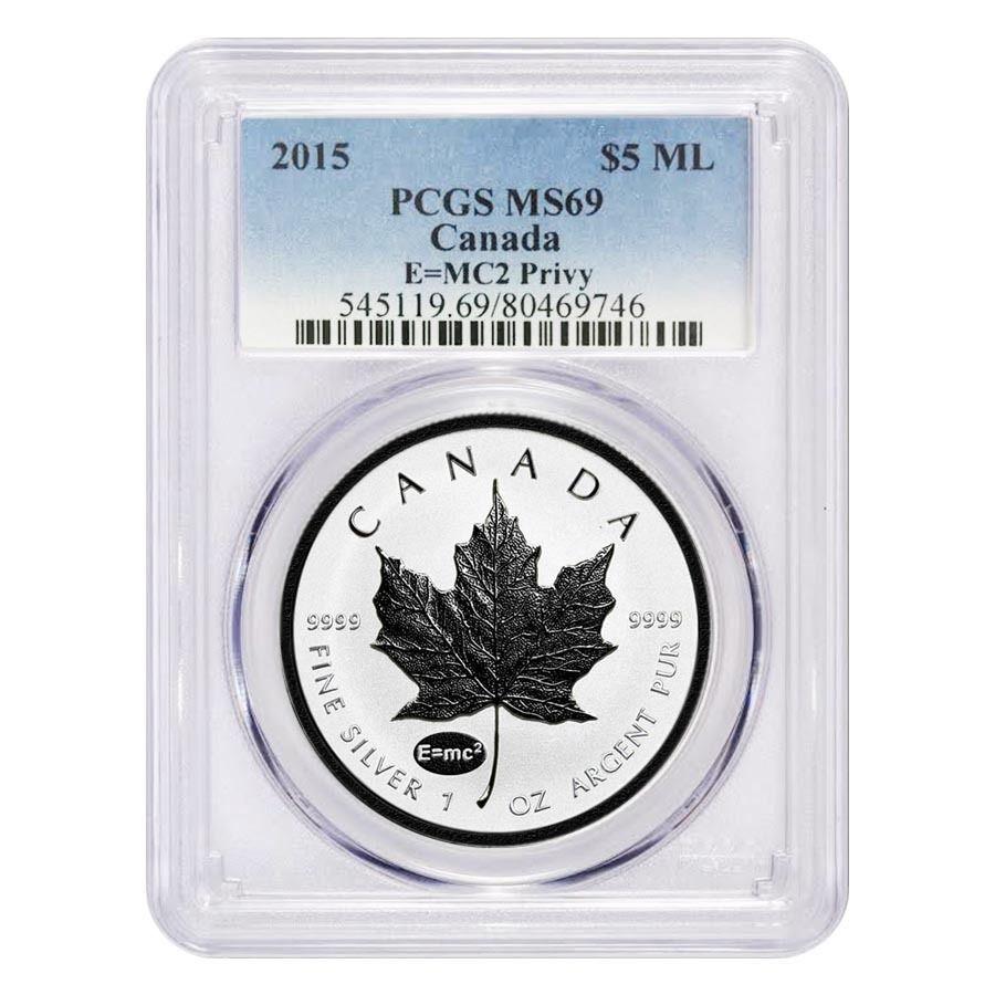 2019 1 oz Canadian Silver Maple Leaf NGC MS 69 Mint Error Obv Struck Thru