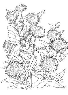 Coloring Sheets Printables | Difficult Fairies Coloring Pages ...