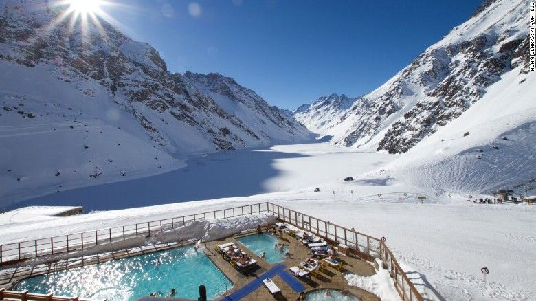 September savings are significant on late-season spring skiing at Hotel Portillo in the Chilean Andes. The resort area receives an average seasonal snowfall of about eight meters (about 26 feet).