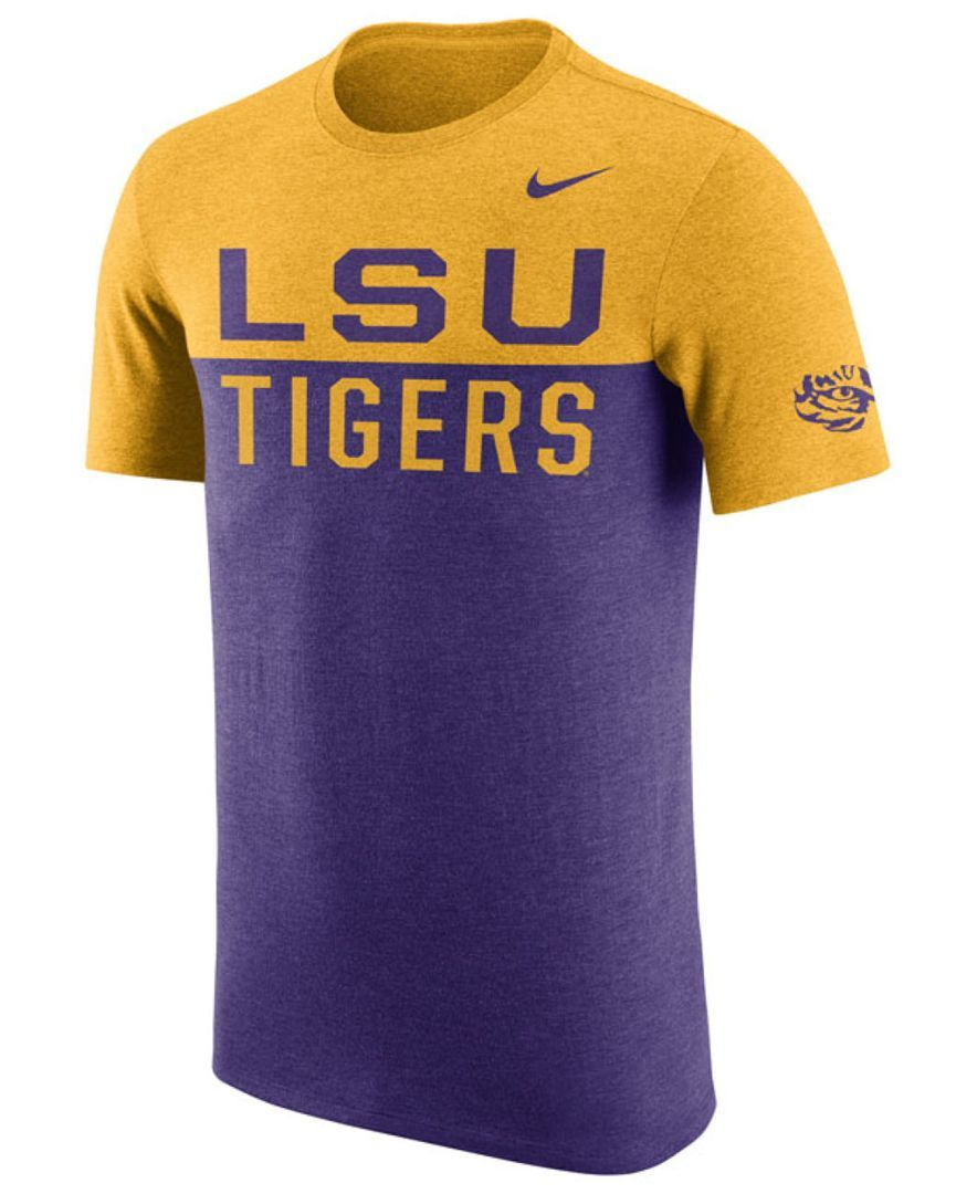 Nike Men's Lsu Tigers Resurge Crew T-Shirt