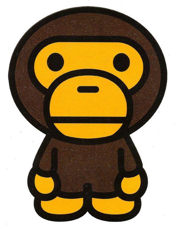 425 Inch X 575 Bape Monkey A Bathing Ape Gorilla Baby Milo Heat Iron On Transfer
