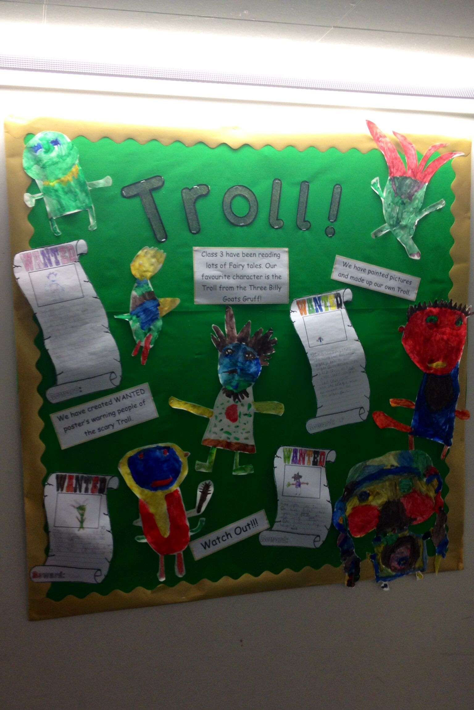 Troll Display From The Three Billy Goats Gruff