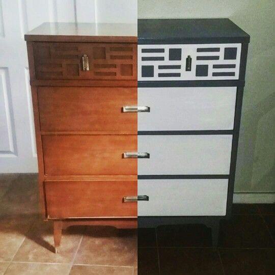 @idlehandsdecor. modern dresser, dresser makeover, before and after, painted furniture, diy, makeovers, furniture, decor