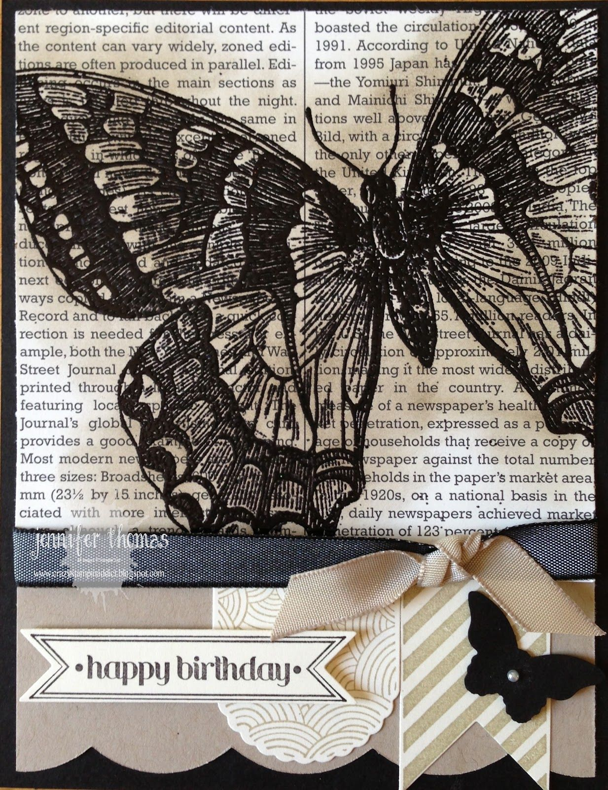 Swallowtail Lea Christensen made for Stampin Up Regionals in SLC 2013