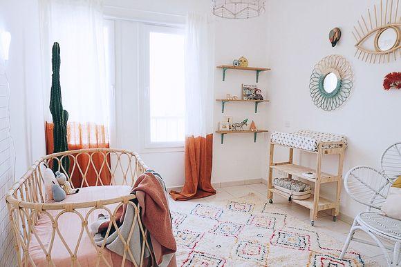 Chambre Bebe Style Boheme Une Deco Nature Deco Chambre Bebe