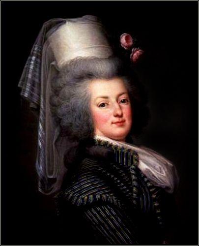 Marie Antoinette in Hunting Dress, 1788, by Adolf Ulrich Wertmüller.