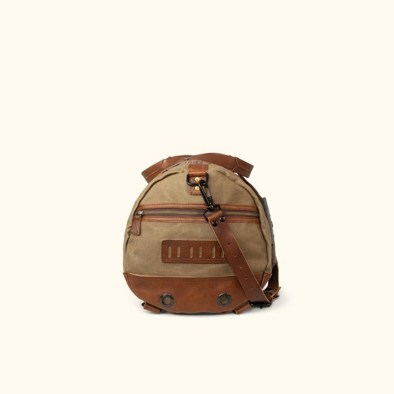Elkton Waxed Canvas Duffle Bag Moss w Autumn Brown 5a0dd7e49760a