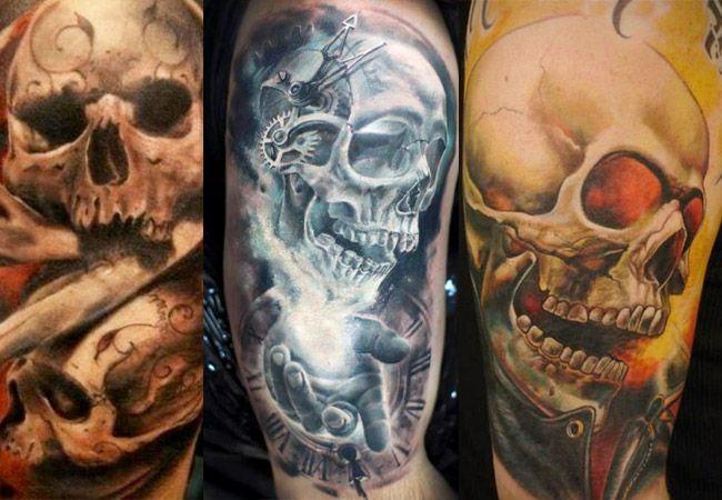 Tatuajes De Calaveras A Color Calaveras Craneos Y Calaveras Tatuajes