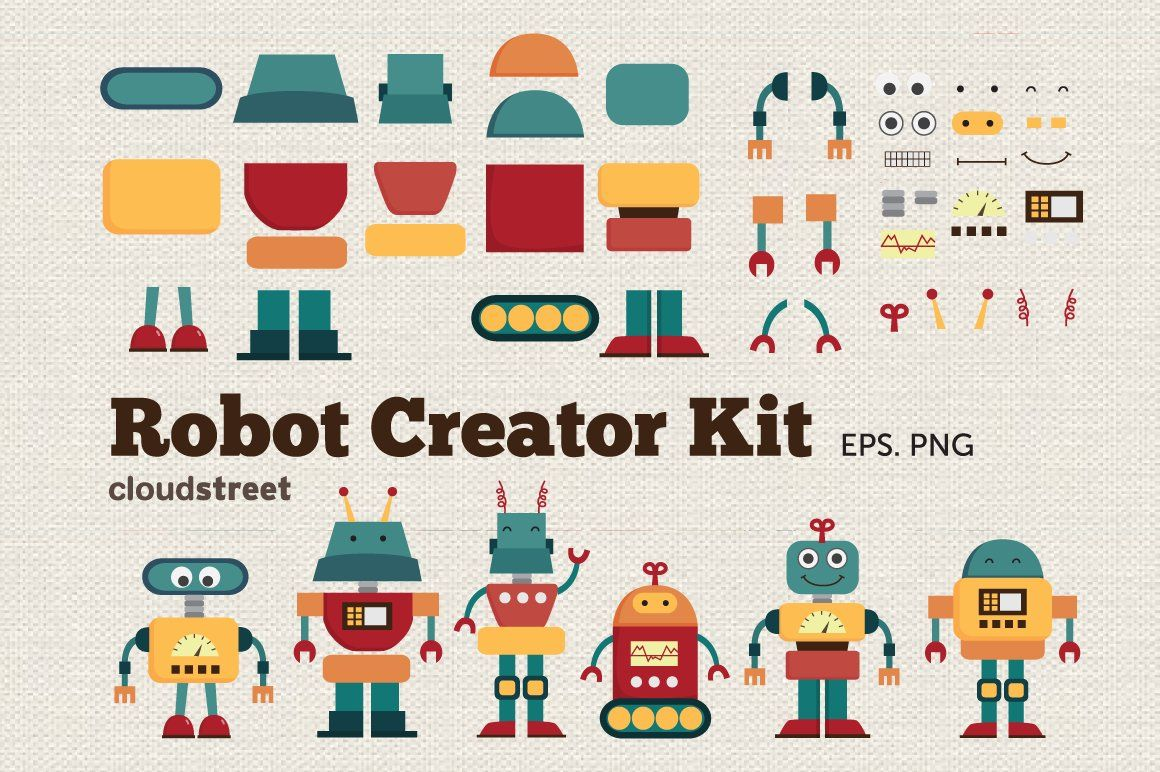 Robot Creator Kit Clipart In 2020 Robot Creator Web Design Tips Simple Web Design