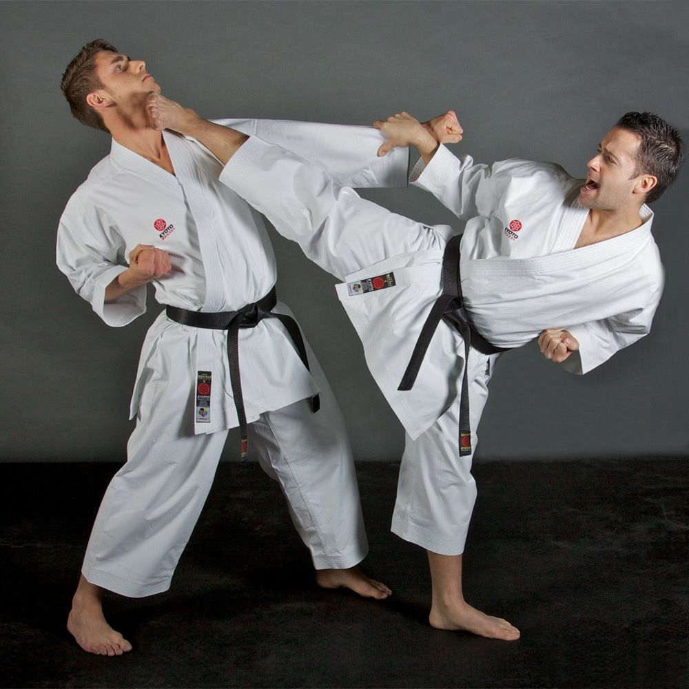 Kyoto WKF Approved Kata Karate Suit Action 1