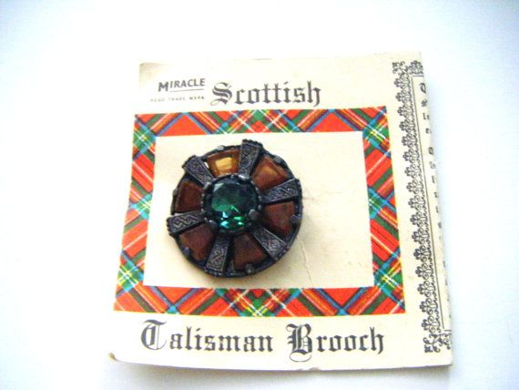 Scottish Talisman Brooch On Original Card Made In by parkledge, $22.00