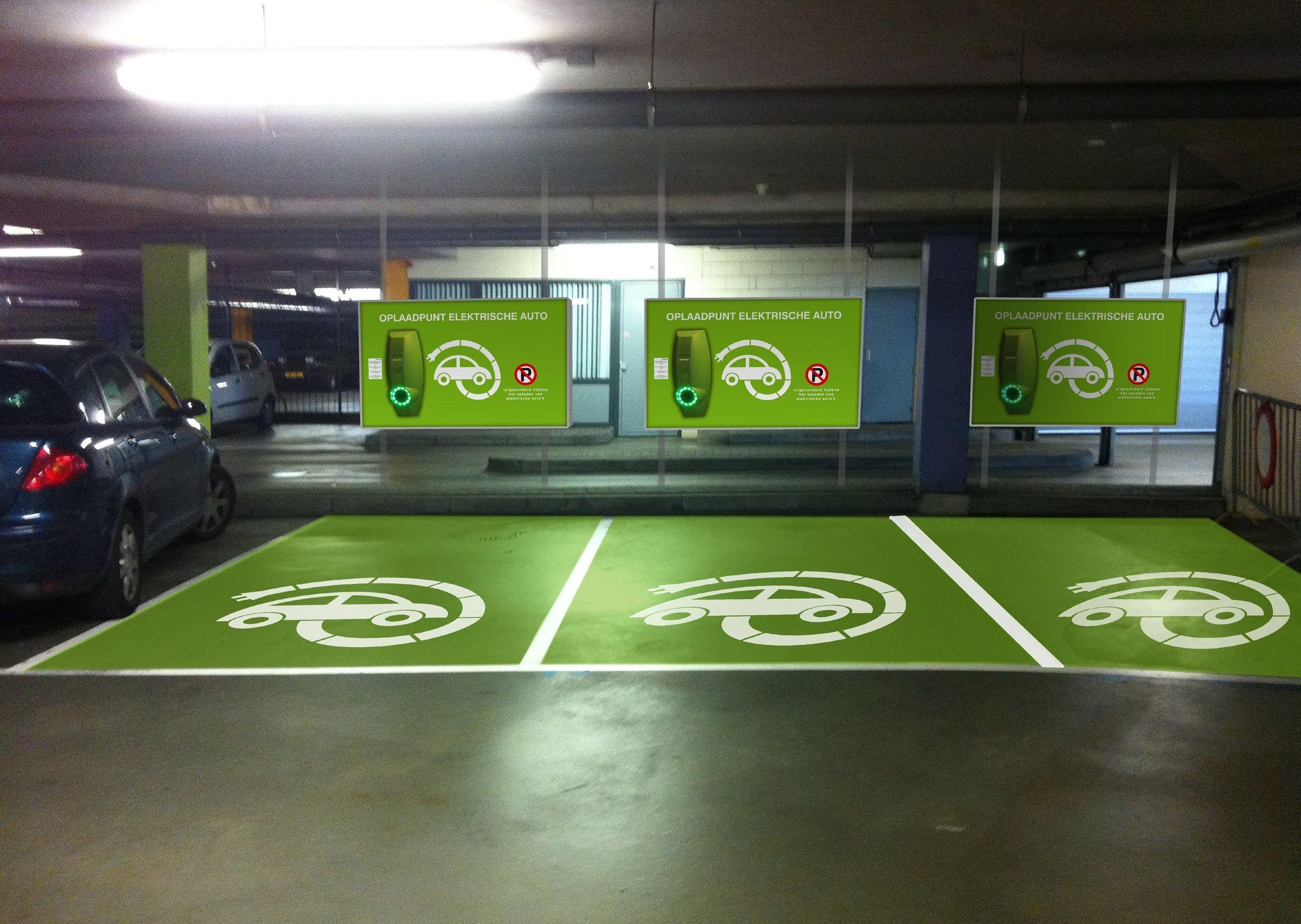 Parking Garage Elektrical Cars Parking Design Park Signage Car Parking