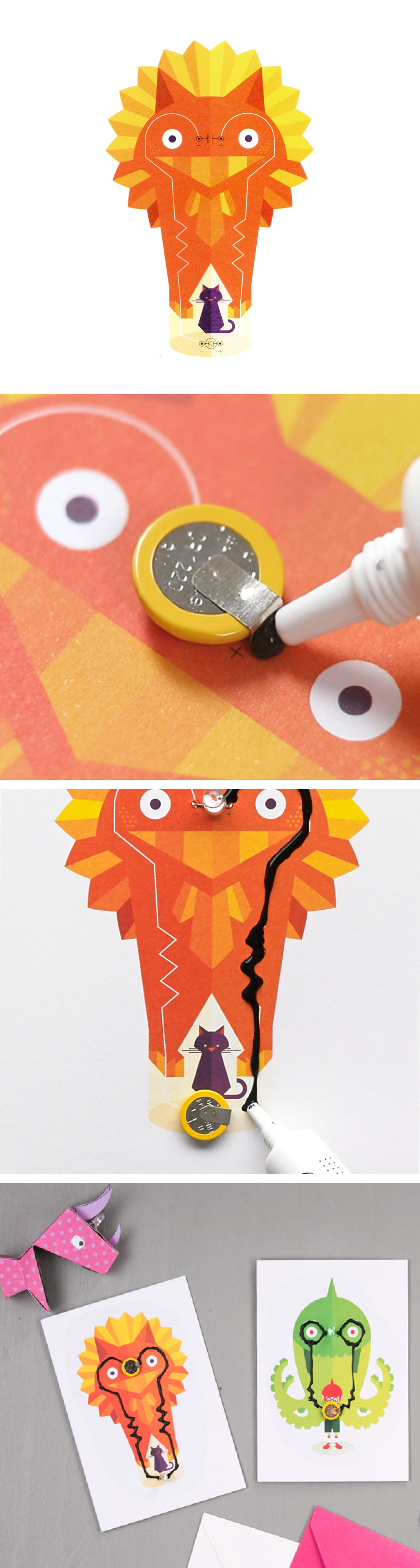 The perfect card for your beloved ones! Make your own interactive greeting #cards using Electric Paint!   Check the tips here and find them on our website: https://www.bareconductive.com/shop/flashing-card-set-celebration-circuit/
