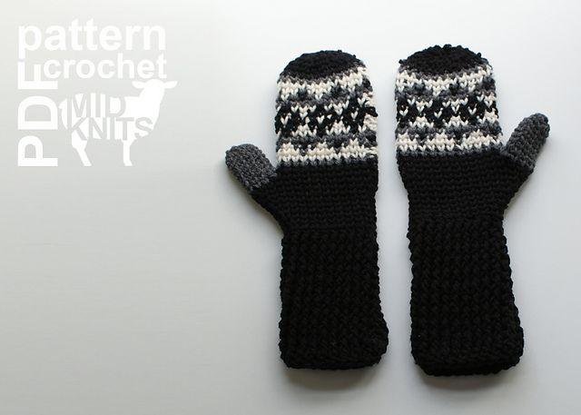 Ravelry: Fair Isle Crochet Argyle Mittens (2016006) pattern by ...
