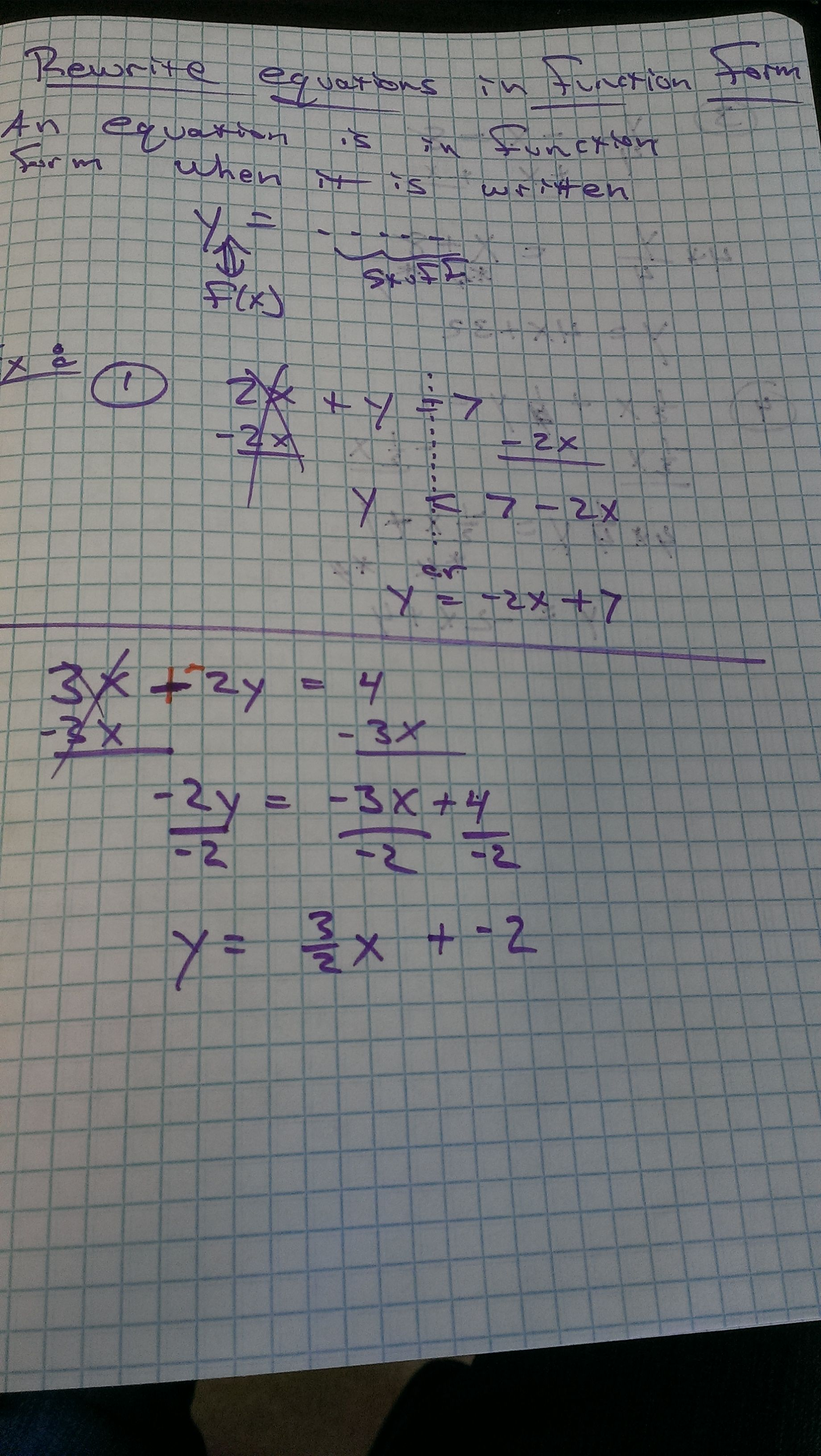 Rewrite Equations In Function Form