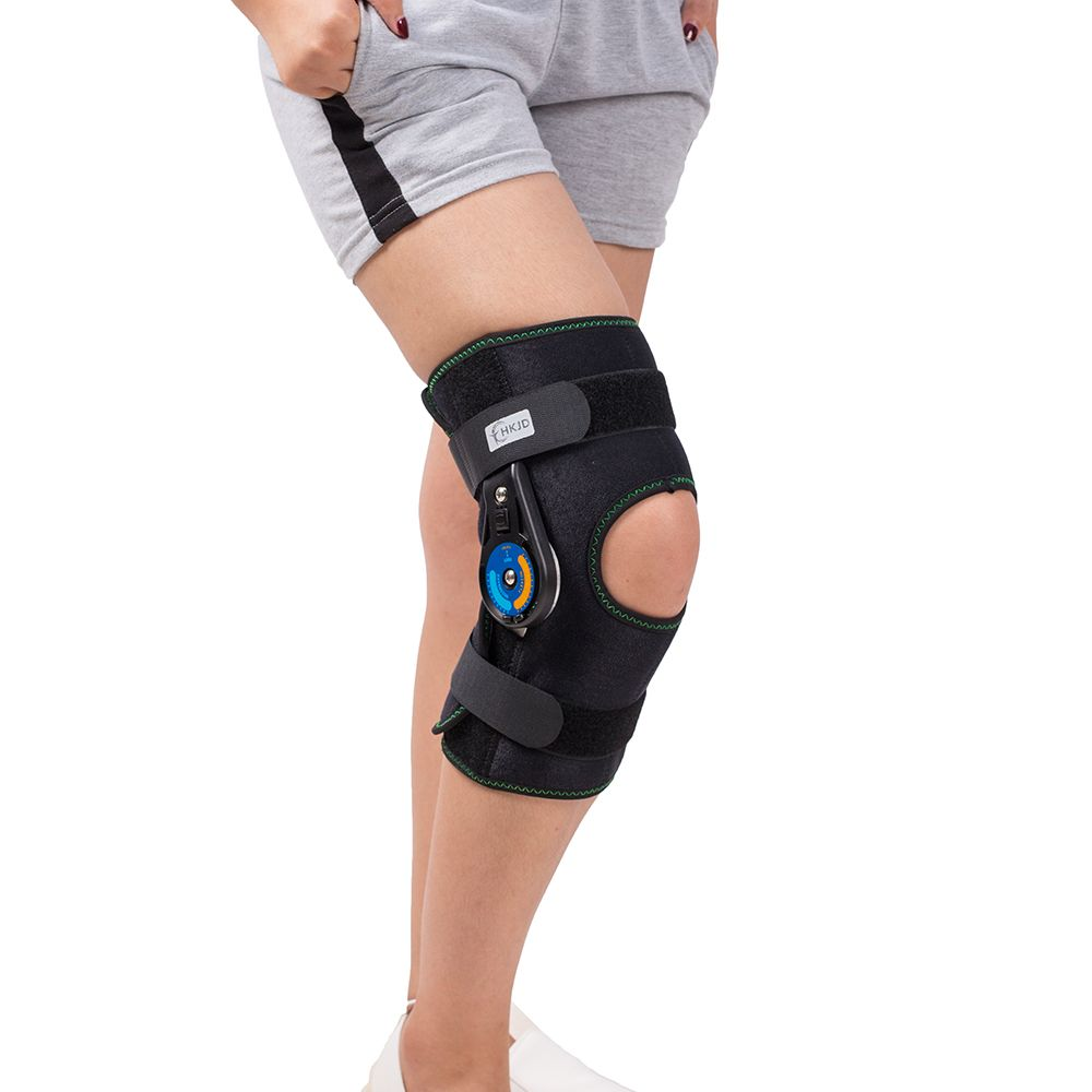 1792995175 Hinged Knee Patella Brace Support Stabilizer Pad Belt Band Strap Orthosis  Splint Wrap Immobilizer Guard ROM Knee Brace