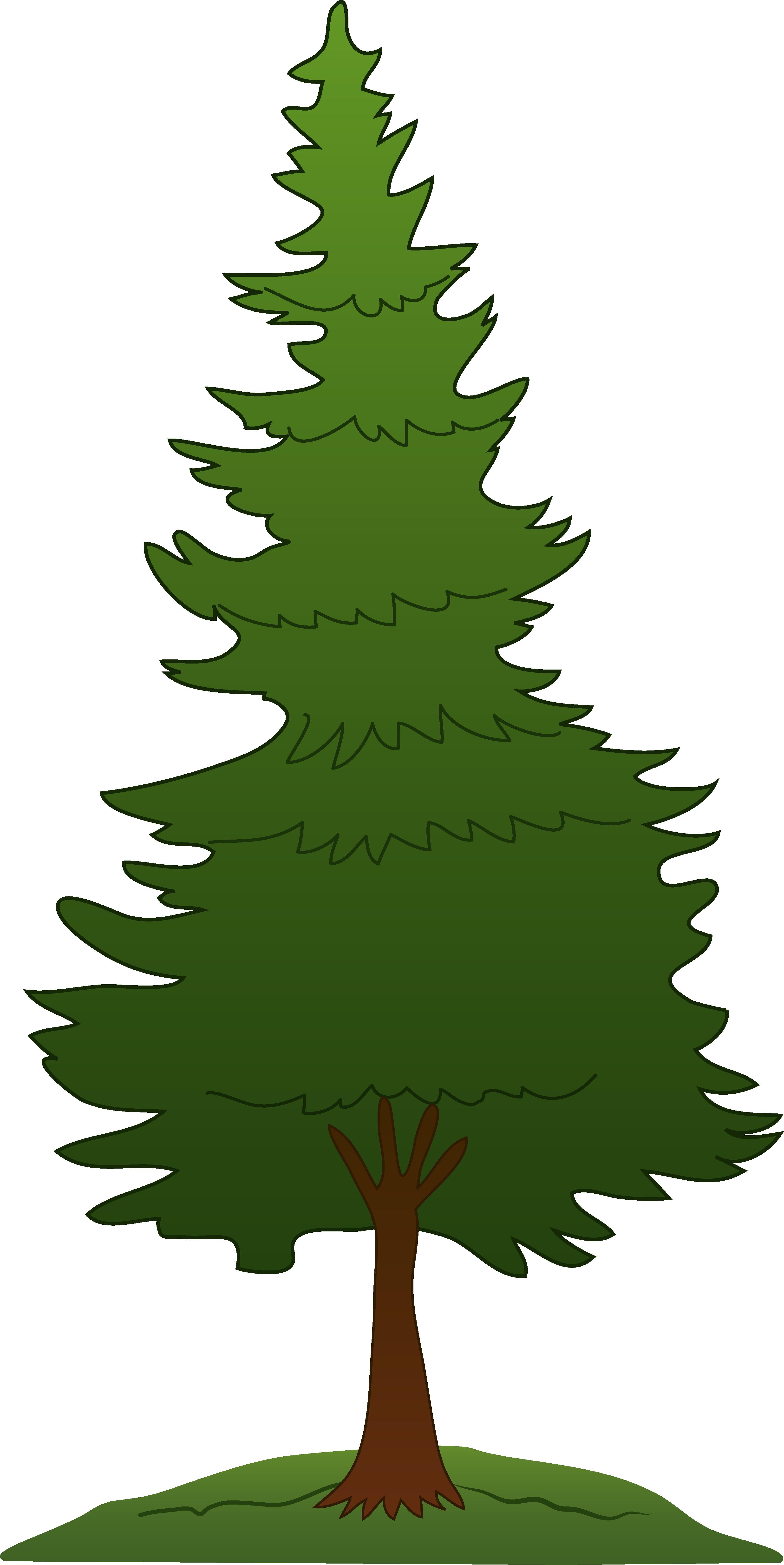 tree clip art pine tree clipart free [ 3256 x 6498 Pixel ]