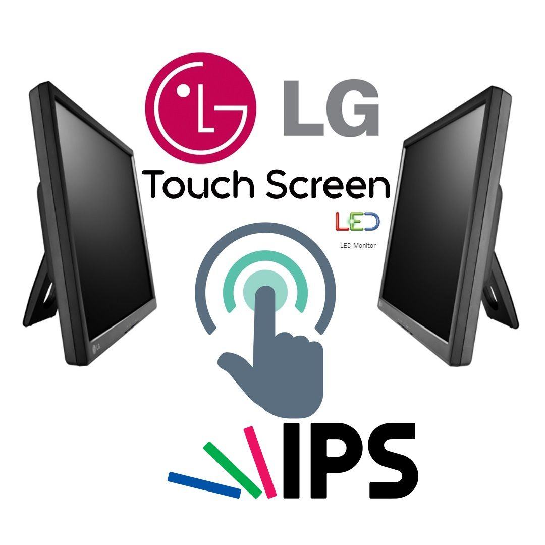 LG 19 Touch Screen IPS LED Monitor, HD resolution, Reader