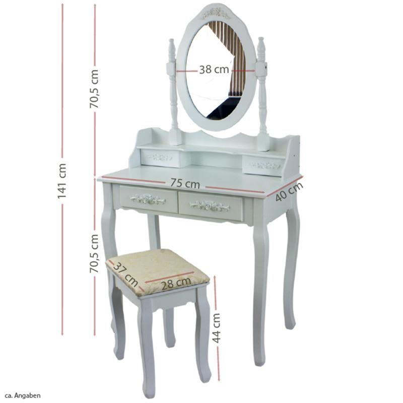 Toaletka Kosmetyczna Z Lustrem Biala Mirka 4827618864 Oficjalne Archiwum Allegro Furniture Decor Home