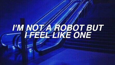 Aesthetic Blue Dark Feelings Glow Indie Neon One Pale Quote