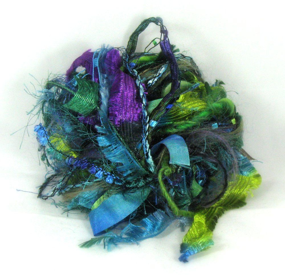 Peacock Elements 26yds Textile Fiber Art Embellishment Trim Specialty Ribbon Bundle Teal Peacock Blue Green Purple Buy Any 6 Get 1 Free