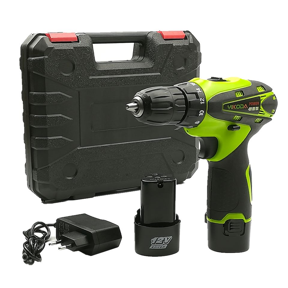 Find More Electric Drills Information About Yikoda 12v Lithium Battery 2 Cordless Driver Drill Rechargeable Multi Fu Electric Screwdriver Drill Electric Drills