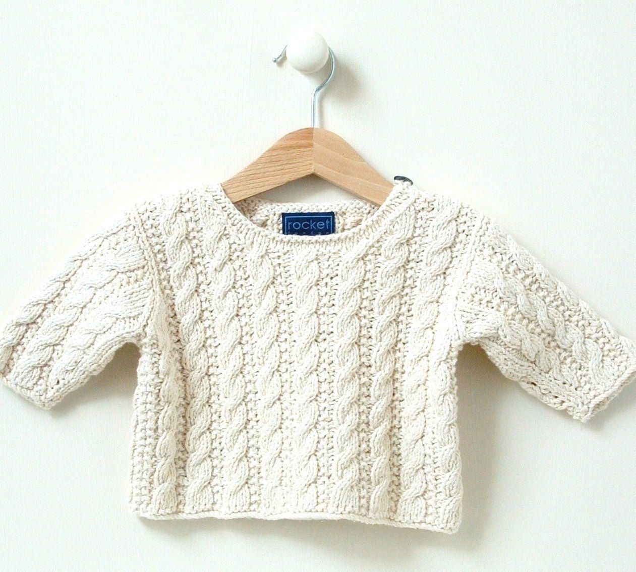 0-4m 4-8m KNITTING PATTERN baby sweater \'mini cable\' | umeendako ...
