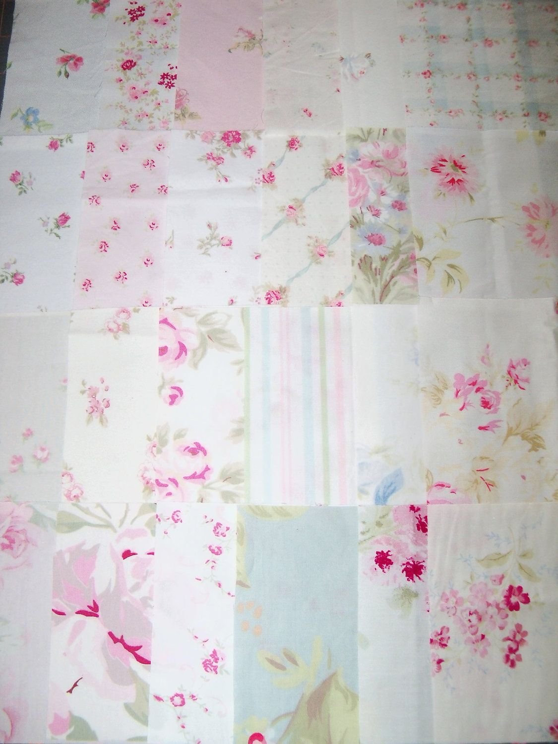 Simply Shabby Chic Roses Quilt Squares Rachel Ashwell 4 Inch 24 Different Pretty